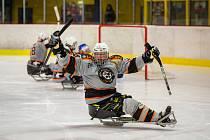 Sledge hokejisté Zlína ve 3. kole České para hokejové ligy na domácím ledě zničili pardubické Mustangy, když vyhráli poměrem 8:3