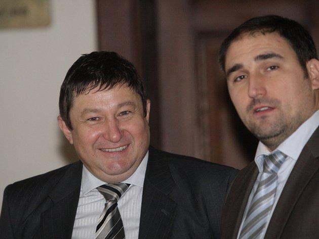 Martin Janečka s právníkem