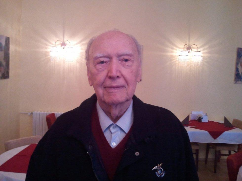 Válečný veterán Alois Dubec v luhačovickém Miramare