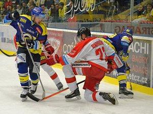 Hokejisté Aukro Berani Zlín se utkali s Olomoucí