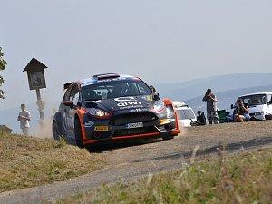 Kvalifikace a shakedown Barum Czech Rally 2017. Alexej Lukjaňuk