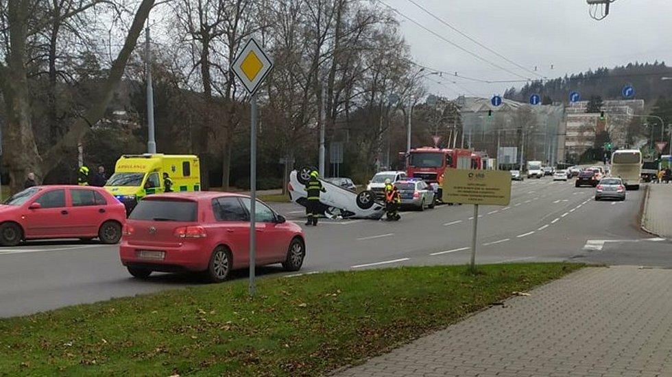 Nehoda ve Zlíně - pondělí 7. prosince 2020