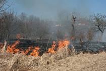 Požáry v přírodě na Zlínsku