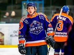 Osmnáctiletý zlínský útočník Kristián Leška (na snímku) si v pondělí odbyl premiéru za Hodonín ve druhé mužské lize.