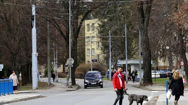 Ulice 2. května ve Zlíně.