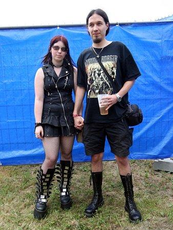 Masters of rock 2013.Na snímku Sandra Tomanová a Lukáš Fromberger zPrahy