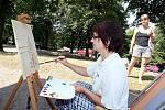 V týdnu 2. až 7. srpna 2015 se uskuteční malířský kurz MALOVÁNÍ V HOSTÝNSKÝCH VRŠÍCH 2015 pod vedením zkušené malířky Doris Windlin.