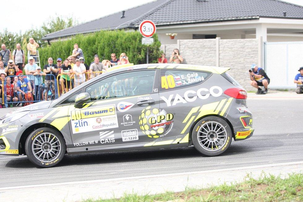 V rámci 49. ročníku Barum Czech Rally Zlín absolvovali v sobotu dopoledne jezdci rychlostní zkoušku Březová. Na snímku Erik Cais