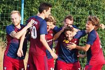 Fotbalisté Štípy v 6. kole okresního přeboru Zlínska přestříleli Slušovice B 4:3. Foto: