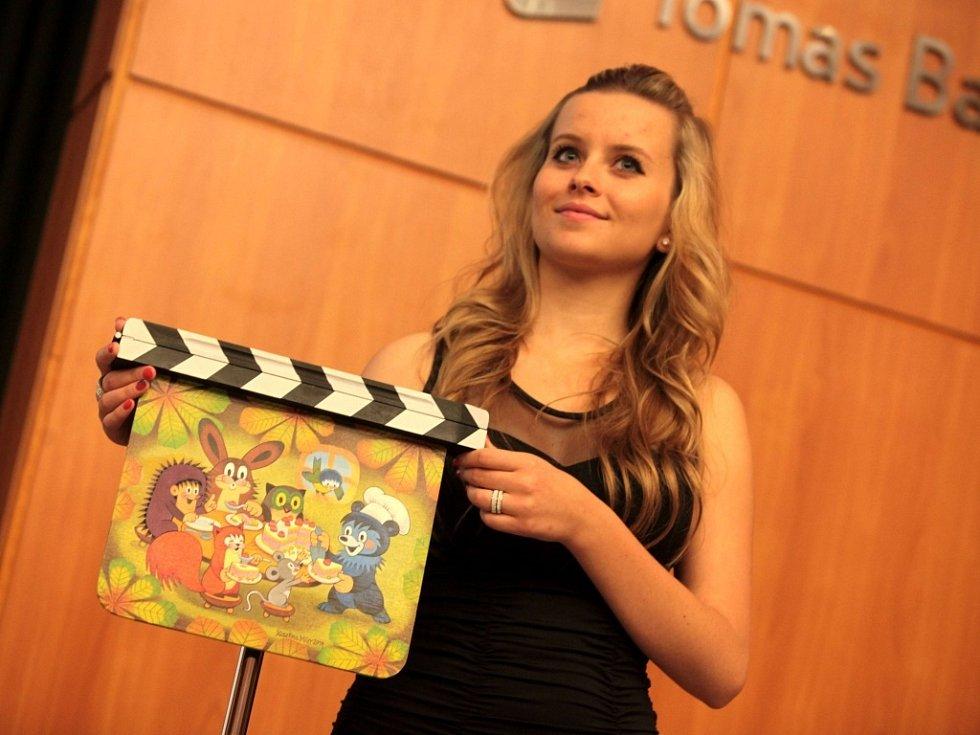 FILM FEST ZLÍN 2014: Dražba festivalových filmových klapek. Na snímku klapka Miler Kateřina – Na návštěvě u Baribala