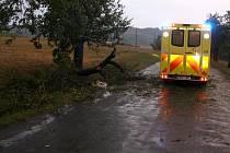 Následky bouřky, která prohnala Zlínským krajem v noci z 15. na 16 srpna