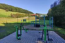 Nové fitness cvičící prvky ve Sportovním areálu Březnice.