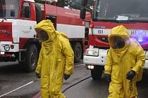 Taktické cvičení hasičů v Otrokovicích