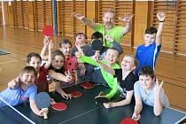 Ping pong na 11. ZŠ - mladší děti