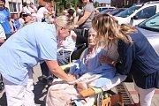 Cvičení hasičů v Senioru Otrokovice.