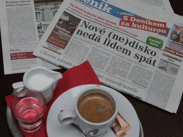 Zlínský deník. Ilustrační foto.
