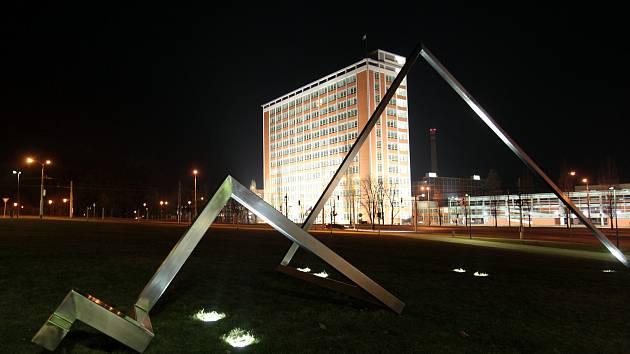 Noční Zlín objektivem fotografa Jana Karáska.
