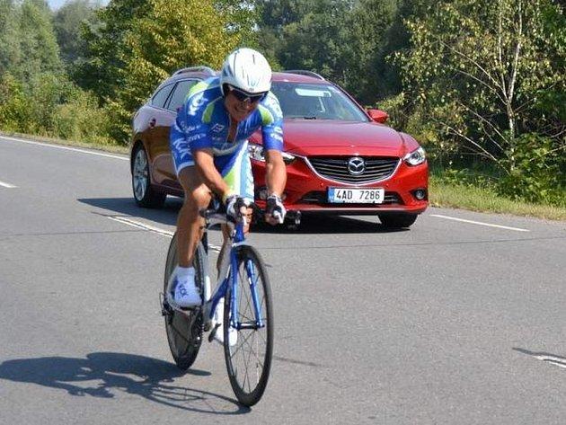 cyklista Josef Slezák