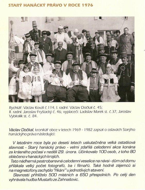 Na březích Svodnice leží Sazovice, vesnička má milená... Staré hanácké právo - zvyk, který se v Sazovicích poctivě dodržuje.
