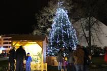 I ve Zlíně už strom září na náměstí
