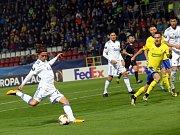 fotbal FC FASTAV Zlín - FC Kodaň. Peter Arkensen dává na 1:1