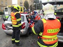 Dva zranění při nehodě v centru Zlína