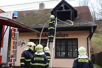Ranní požár trnavské hospody .