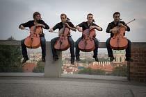 Soubor čtyř mladých violoncellistů Prague Cello Quartet zahraje ve Zlíně