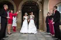 Obřadní svatba registrované partnerství lesby Zlín.