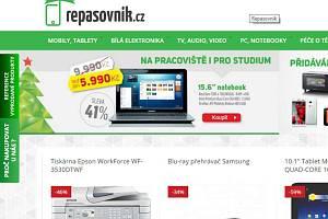 Web eshopu repasovnik.cz