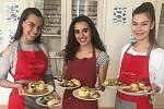 Finalistky Miss OK ze Zlínského kraje se učily vařit na Střední škole Baltaci.