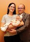 Vítání dětí městský úřad 24.3.2017 ve Zlíně. Silvie a Aleš Kučerovi s dcerou Terezou