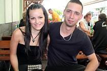 Jakub Piskacis s přítelkyní Petrou Kuchařovou na Masters of Rock