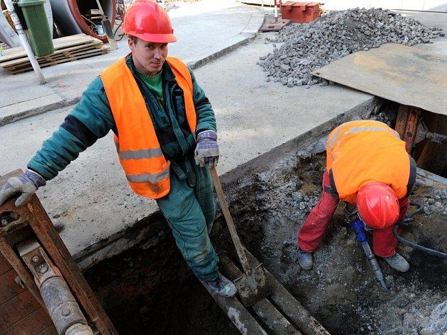 Oprava cesty. Ilustrační foto