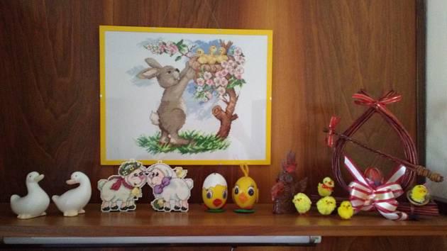 Naše velikonoční výzdoba.