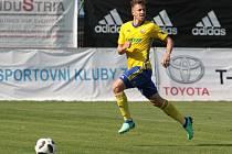 Obránce Zlína Lukáš Bartošák (na snímku) se v generálce proti Zlatým Moravcům blýskl gólem na 2:0.