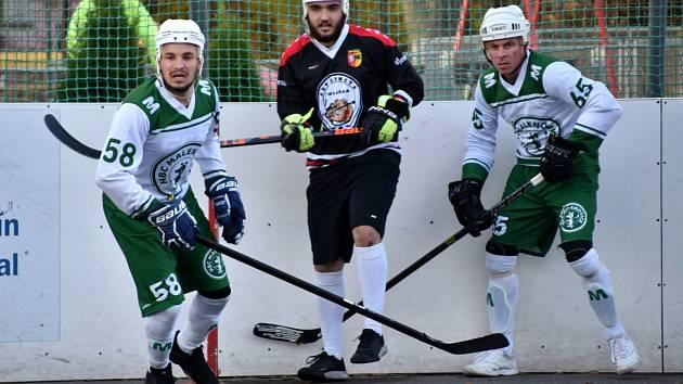 1. liga hokejbal Malenovice-Polička