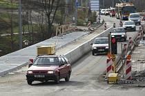 Oprava mostu přes Kozlův Žleb