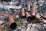 V úterý 13. října  skončil zásah v bývalých muničních skladech ve Vrběticích.