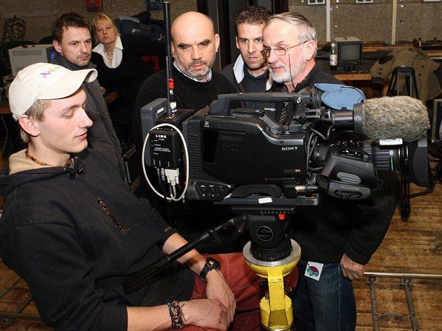 V rámci přehlídky filmů Zlínský pes se konal i workshop práce s kamerou.