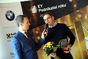 Vyhlášení EY Podnikatele roku 2017 za Zlínský kraj na krajském úřadu ve Zlíně.Stanislav Martinec