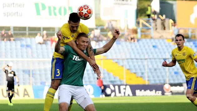 Fotbalisté Zlína (ve žlutých dresech) v 11. kole FORTUNA:LIGY hostili Jablonec.