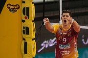 Utkání 1. kola volejbalové UNIQA Extraligy se odehrálo 1. října v Liberci. Utkaly se celky VK Dukla Liberec a Fatra Zlín. Na snímku je Jakub Veselý.
