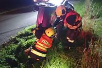 Nehoda na silnici mezi Pitínem a Hostětínem, 7. srpna 2021.