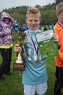 Jedenáctiletý Michael Brázda dovedl svůj tým ze Základní školy Komenského II Zlín k triumfu v krajském finále McDonald's Cupu.