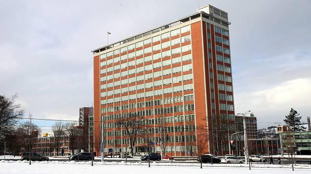 Budova č. 21 tzv. Baťův mrakodrap v továrním areálu ve Zlíně.