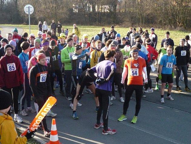 Silvestrovský běh ve Zlíně. Ilustrační foto