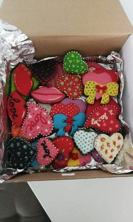 Perníčky pro Sárinku koupila maminka od šikovné paní, jsou opravdu jak malované a navíc darované z lásky...