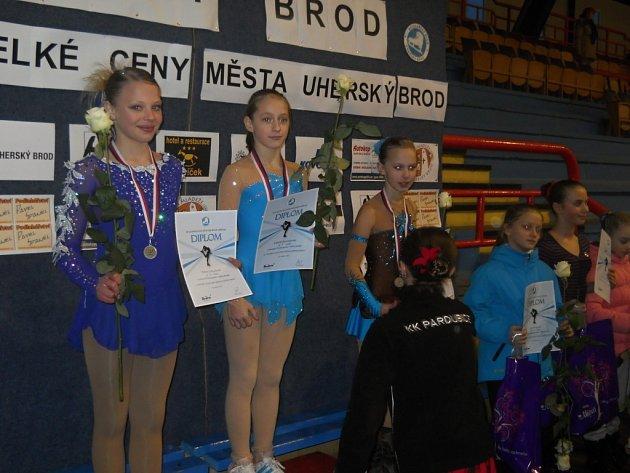 Zlínské krasobruslařky sbíraly medaile doma i v Praze