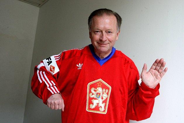 Hokejová brankářská legenda ze Zlína, mistr světa zroku 1985zPrahy Jiří Králík. Foto: archiv Deníku